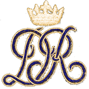 Fancy Script with Crown (Gold)